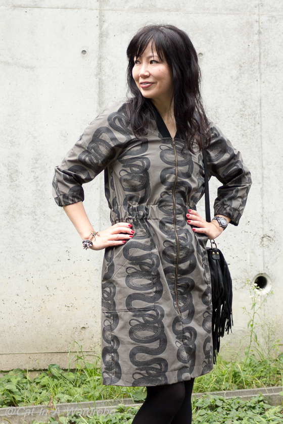 Beryl Bomber Dress by Named Clothing