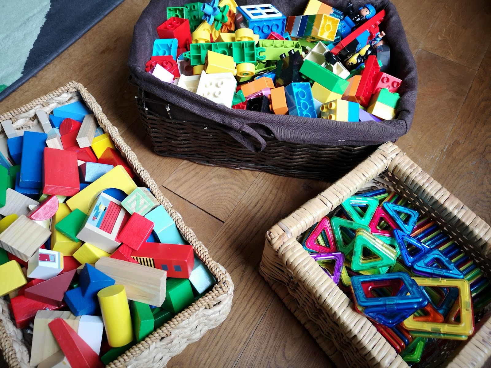 Wooden Toy Baskets