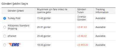 Aliexpress Turkey Post Kullanan Satıcı Listesi