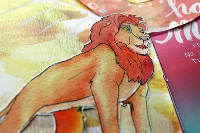 Hakuna Matata | Art journal page by @punkprojects Katie Smith