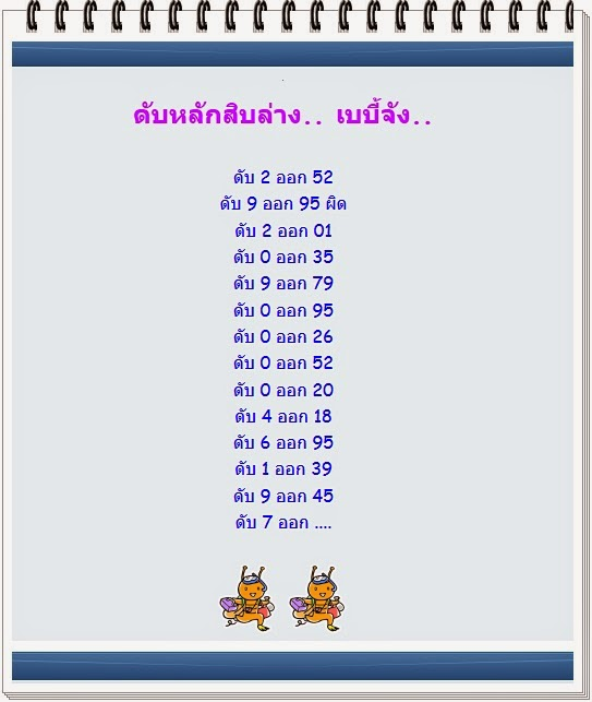 Thai lotto Down Cut Digit 01-08-2014