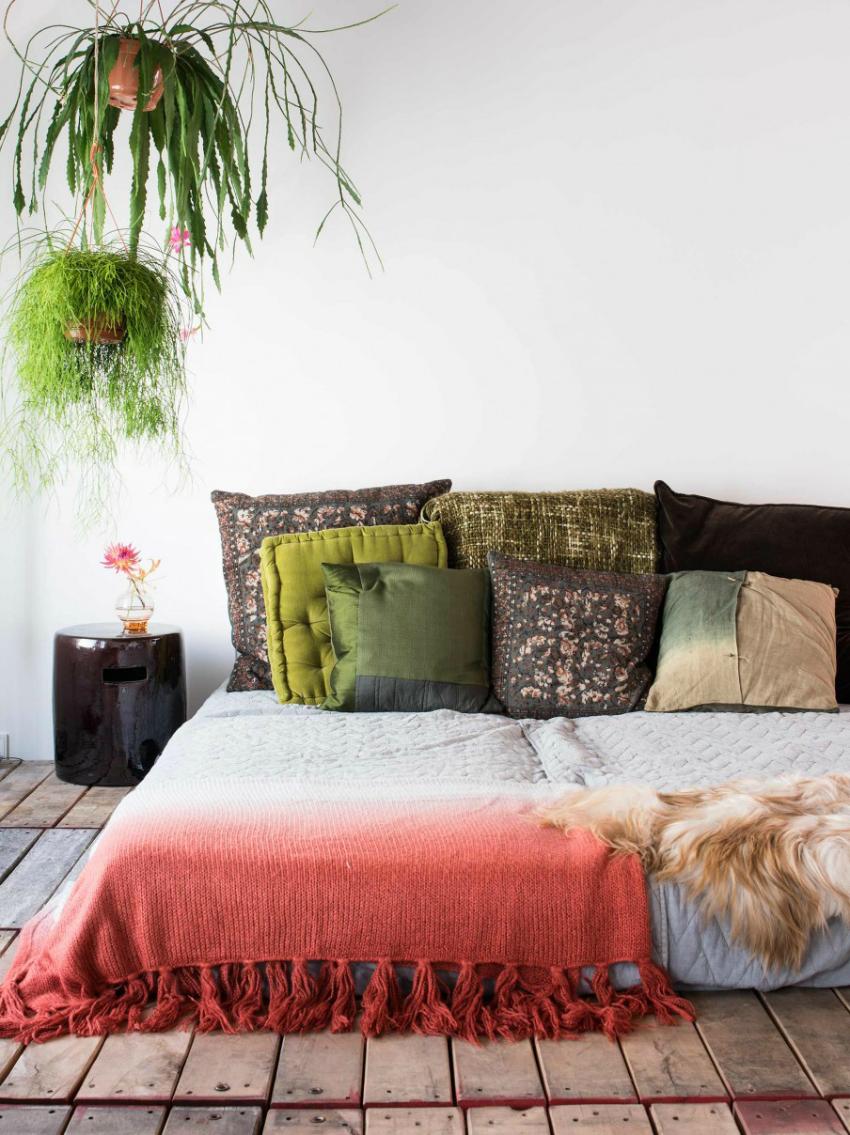 Oasis verde sobre blanco by Habitan2 | Decoración ecléctica con toques nórdicos