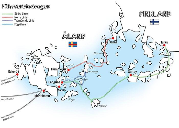 Karte Aland Inseln