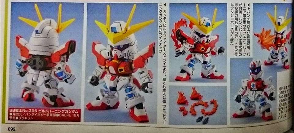 SD BB Senshii Build Burning Gundam by Gundam guy