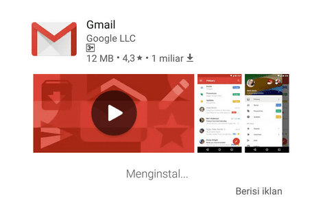 Aplikasi Gmail Playstore