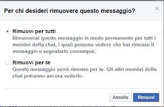Messaggio Facebook