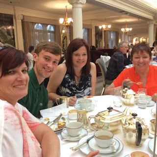 Sarah, Harry, Cathy & Cathy at Harrods London