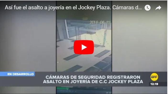 Banda de Peruanos y venezolanos asaltaron una joyería en Lima y están en fuga