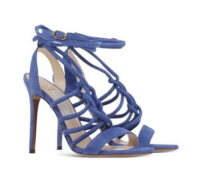 l'autre chose blue strappy stiletto sandals