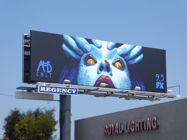 AHS Cult bug eyes billboard