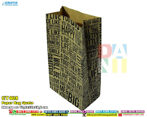 Paper Bag Quote