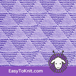 Knit Purl 50: Triangles | Easy to knit #knittingstitches #knitpurl