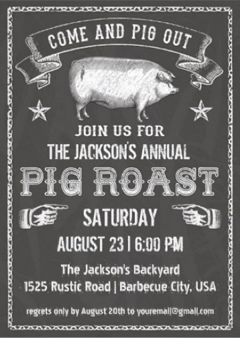 http://www.zazzle.com/chalkboard_vintage_pig_roast_invitation-161524252881050566?rf=238845468403532898