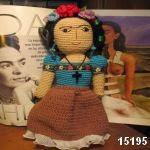 patron gratis muñeca frida kahloamigurumi, free amiguru pattern frida kahlo doll