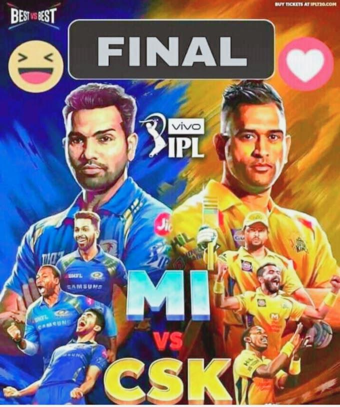 IPL 2019 LIVE Final Match