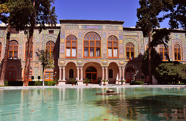 Golestan Palace with its wonderful tileworks. Tehran, Ian