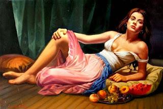 realistas-pinturas-chicas-flores