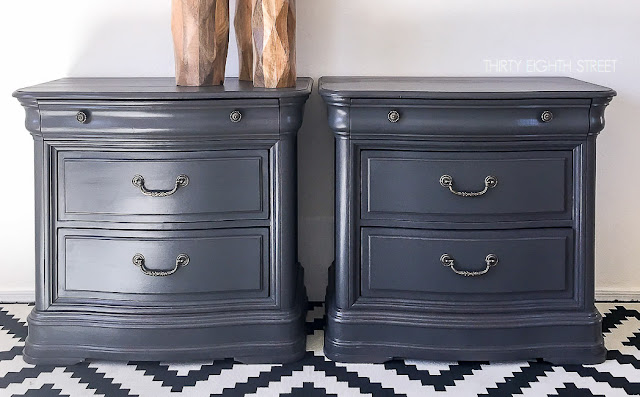 light grey nightstand, gray wood nightstands, dark gray nightstand, modern grey nightstand, grey nightstand and dresser
