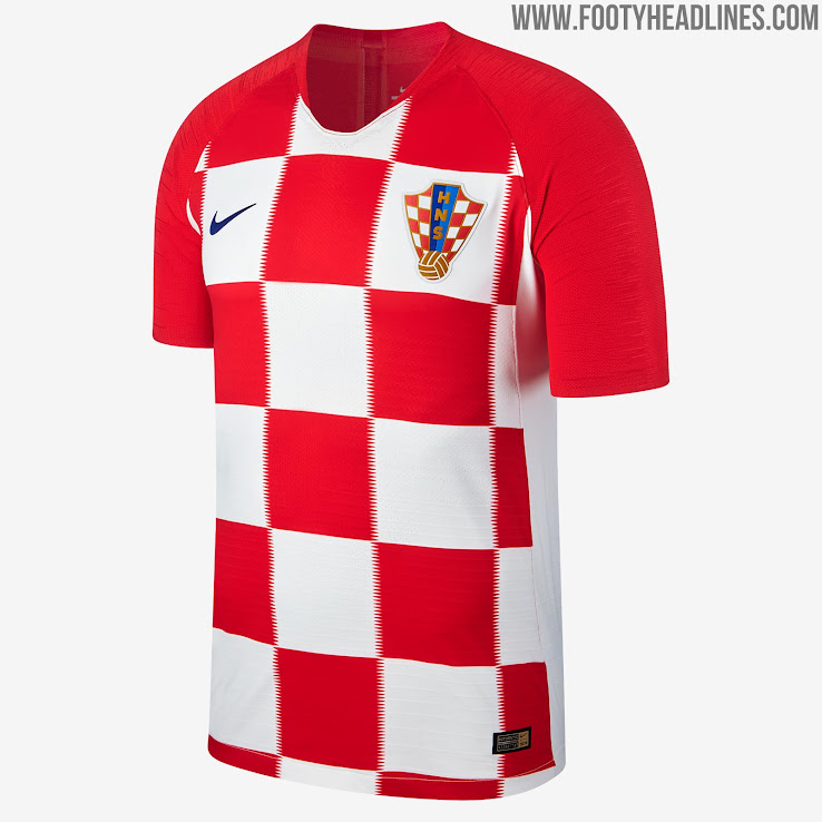 croatia 2018 world cup home kit released footy headlines