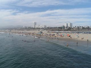 Praia de Santa Mõnica em Los Angeles