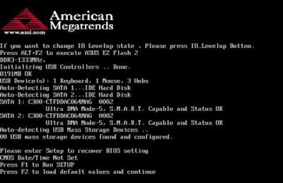 Cara Mengatasi Komputer Gagal Booting dan Muncul Tulisan CMOS Fail