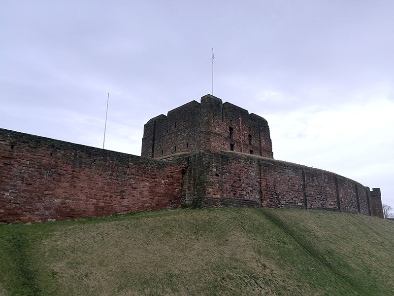 Outside Carlisle Castle
