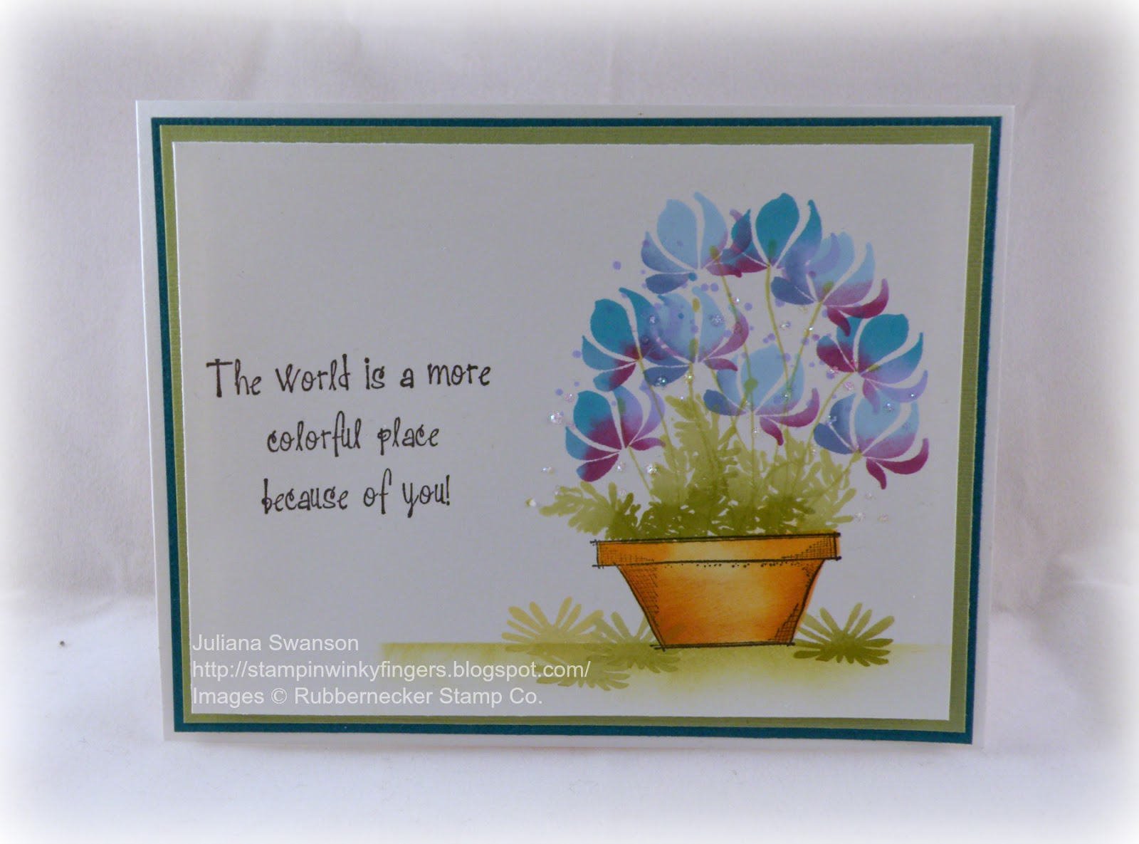 Florist Novi Mi Stampin With Inky Fingers Stamp Show Flower Pot Tutorial