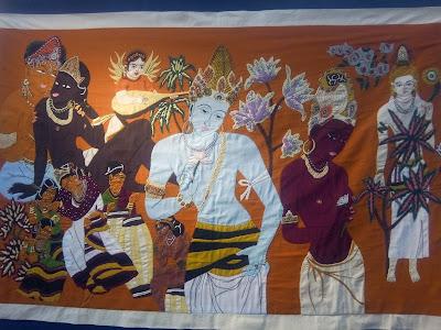 Patchwork et broderie atelier Au Fils d'Indra