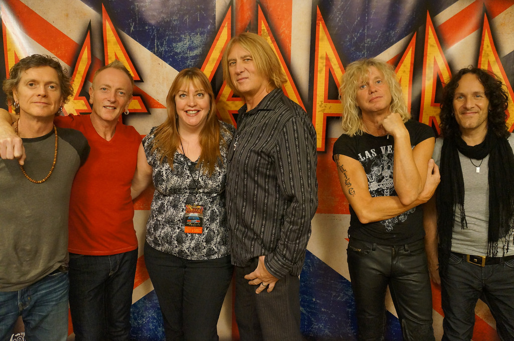 Angie in to viva def leppard me with def leppard at the vip meet greet m4hsunfo