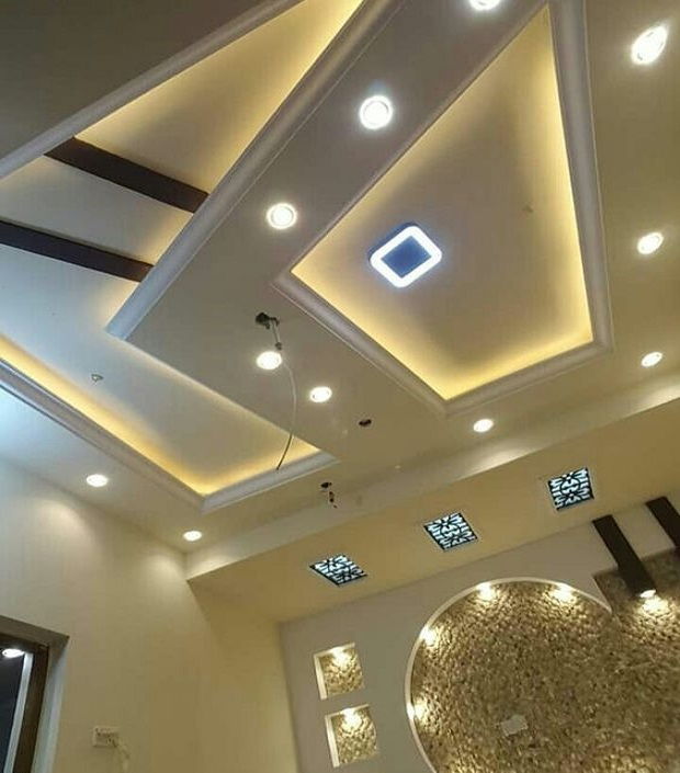 Latest 60 Pop False Ceiling Design Catalog With Led Lighting