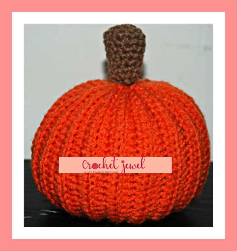 Amys Crochet Creative Creations Crochet Pumpkin Pattern