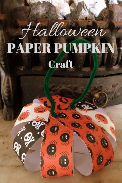 Easy 3-Step Halloween Paper Pumpkin Craft
