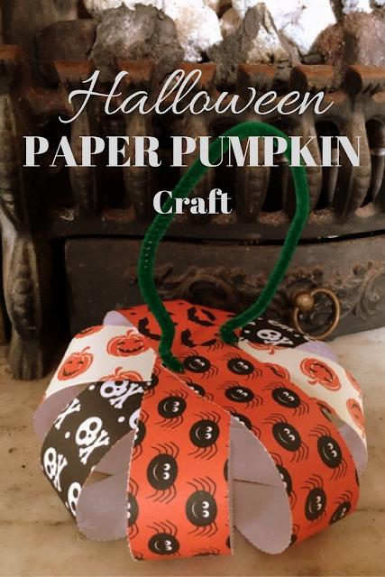 Easy 3-Step Halloween Paper Pumpkin Craft
