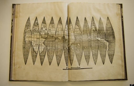 500 Year Old Map Of America.Rare Copy Of Early America Map Found In Germany The Archaeology