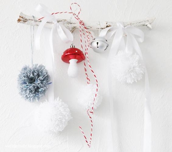 christmas decor - mobil świąteczny - łapacz snów- bożonarodzeniowa ozdoba