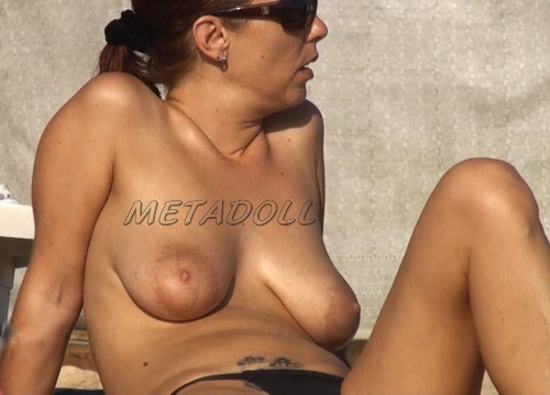 Puffy Beach 21_1-3 (Amateur at the beach has perky tits and puffy nipples)