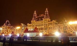Passeios noturnos em Moscou