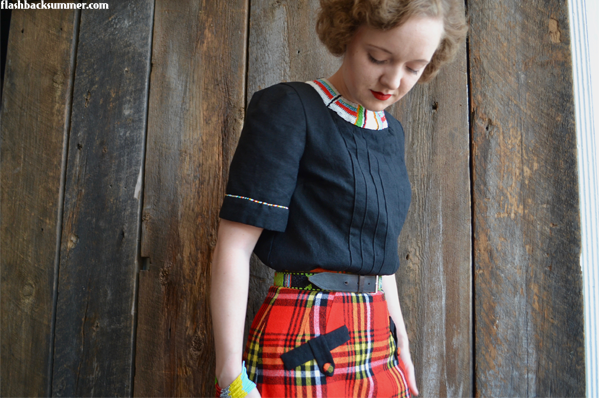 Flashback Summer: Maasai-Inspired Ensemble, 1940s intercultural vintage shuka
