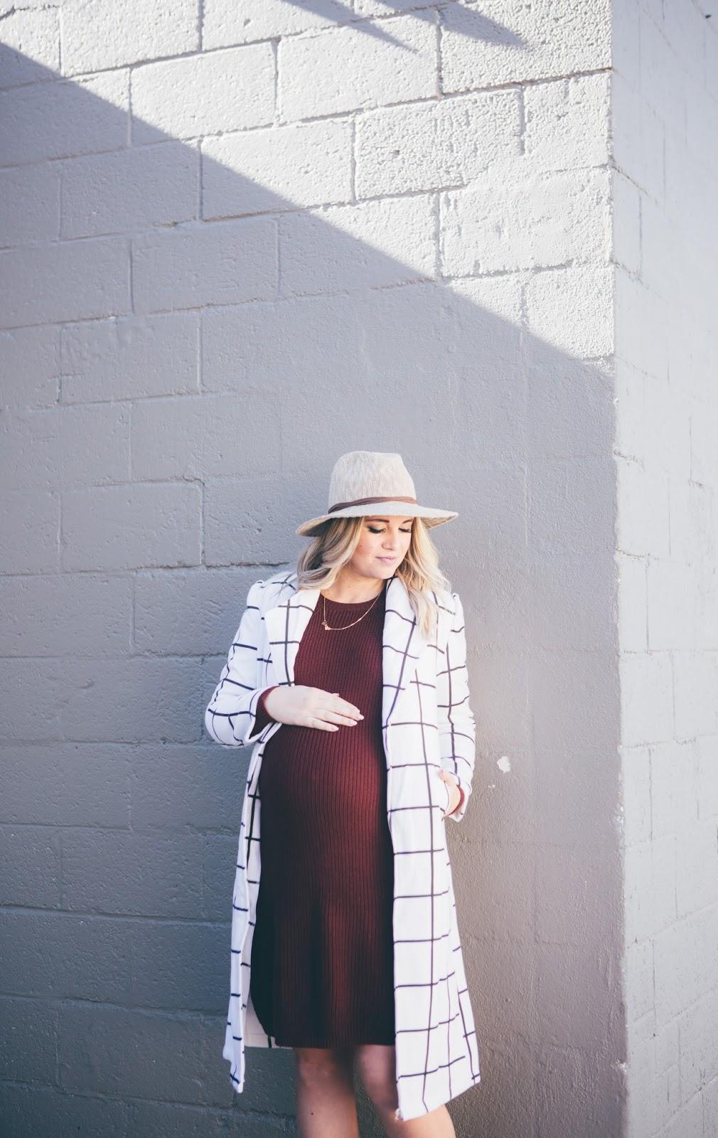 Choies Coat, Utah Fashion Blogger, Pink Blush, Pregnant Outfit