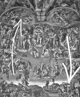 Michelangelo Juizo Universal CApela Sistina movimento - O Juízo Final do Michelangelo