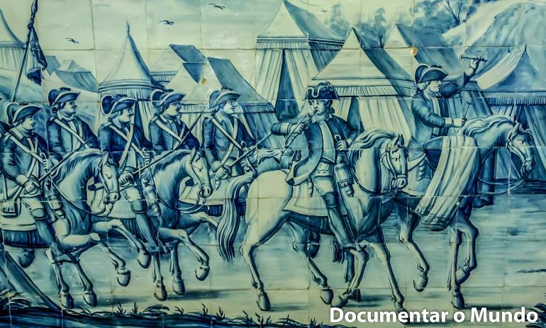 Sala das Batalhas; Azulejos Portugueses; Palácio dos Condes da Calheta