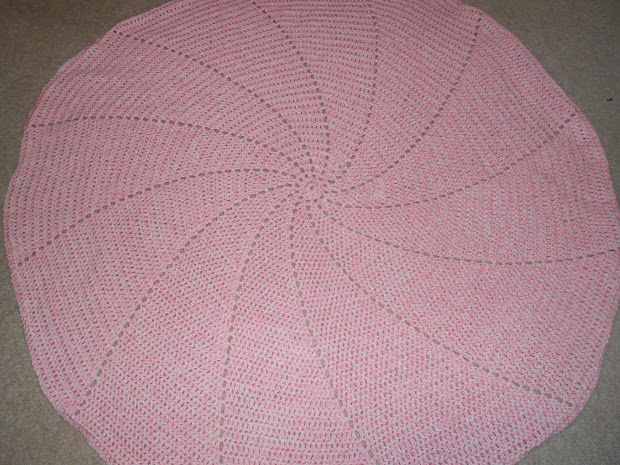 Spiral Baby Blanket Crochet Pattern - Year of Clean Water