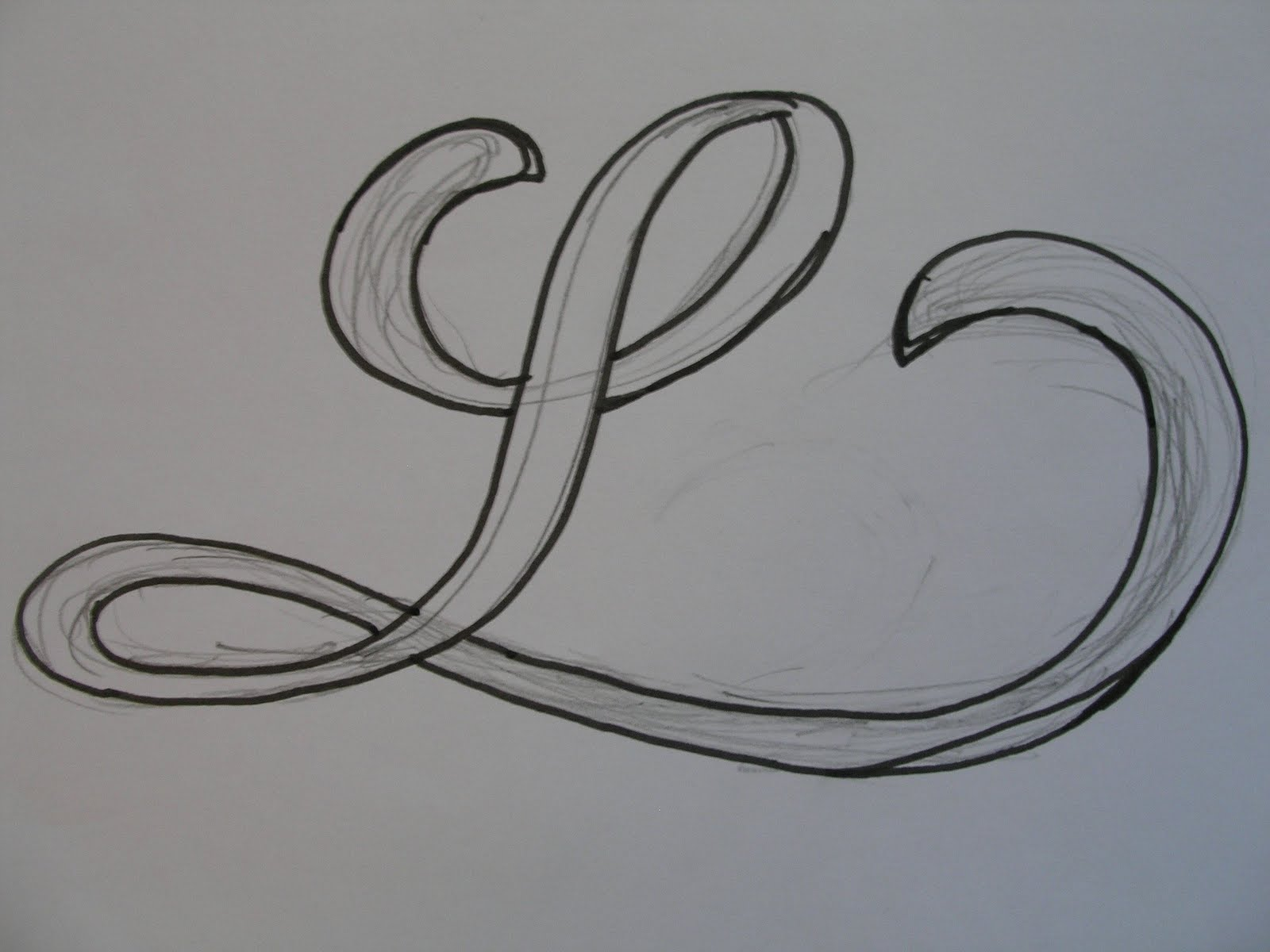 A Place To Flourish: Leaf Script - Calligraphy Flourish Friday