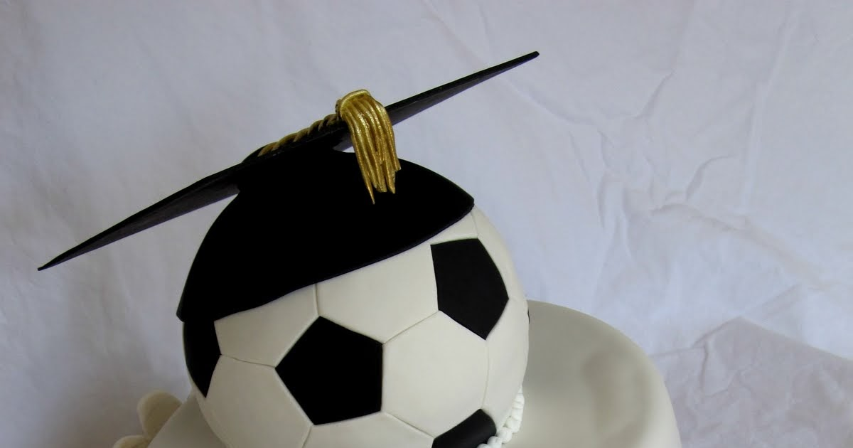 Happy Cakes Bakes Soccer Graduation Cake