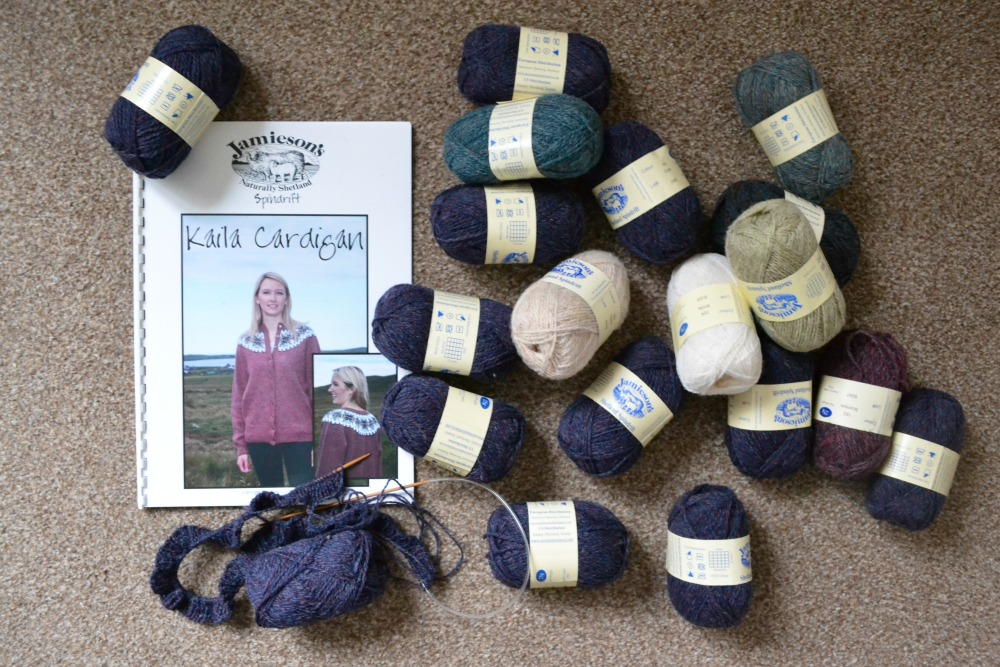 kaila cardigan kit jamiesons shetland yarn knitting yarn along