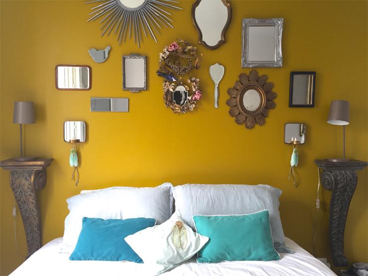 cigale decorative murs tissu et broderie