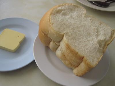 Bangkok, Silom Restaurant, bread butter