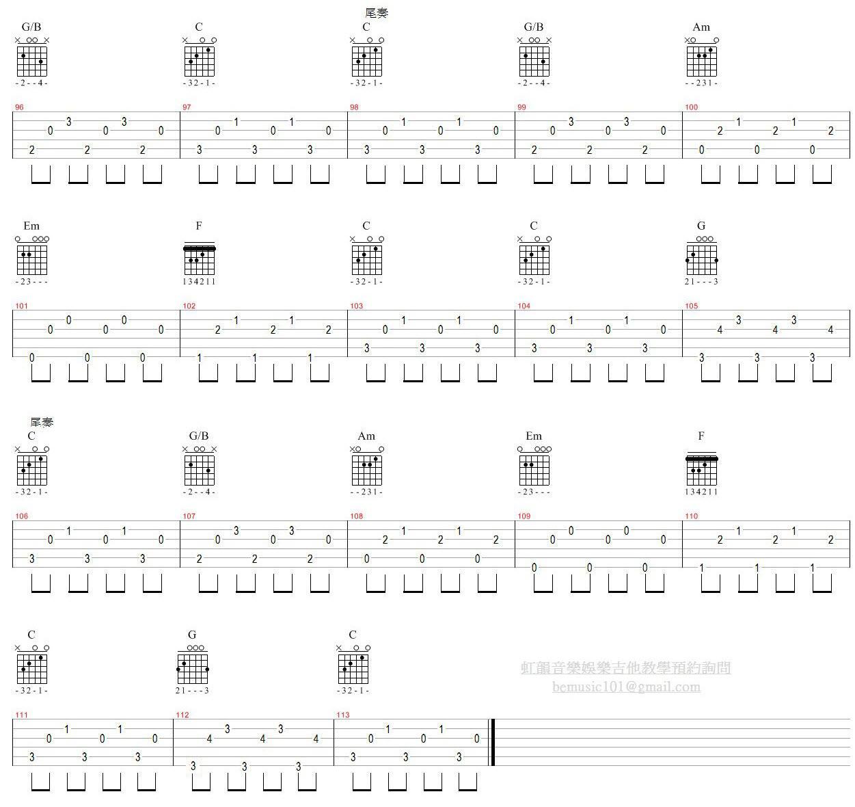 【虹韻音樂娛樂】- 吉他 & 烏克麗麗 : 3-Bass 指法歌曲練習:那些花兒 - 范瑋琪