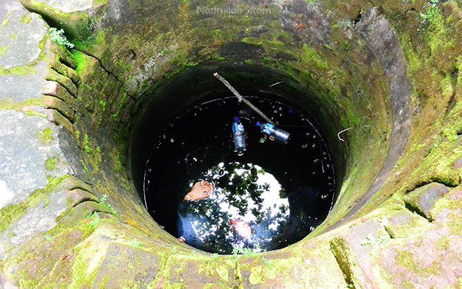 Sumur tua di dekat area terowongan