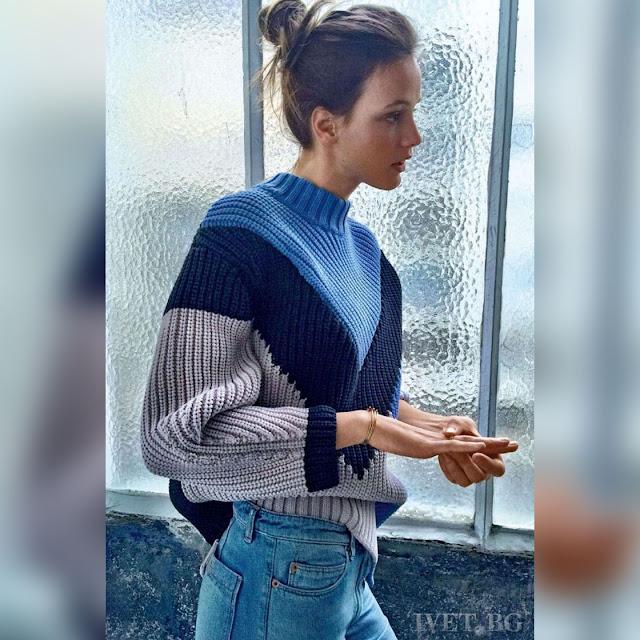 Μακρυμάνικο γυναικείο  χρωματιστό πουλόβερ ARISHA